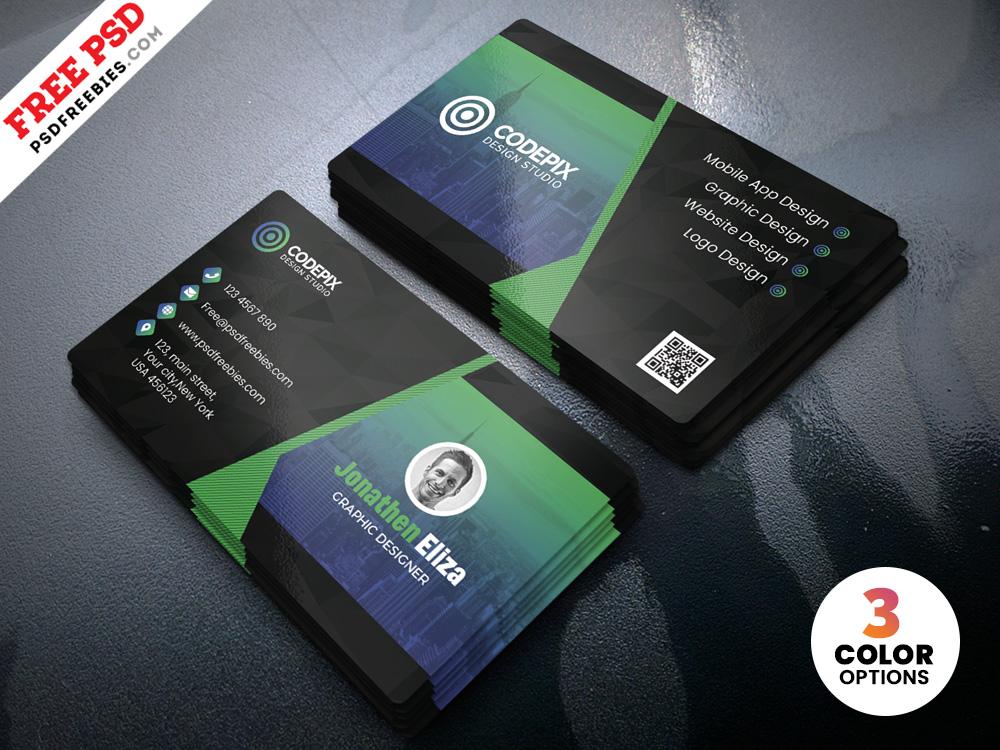 Psd Professional Business Card Design Template Psdfreebies