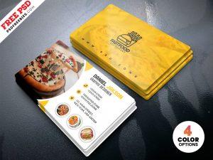 PSD Restaurant Business Card Design Templates