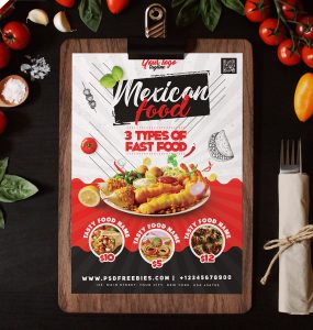 Restaurant Food Menu Flyer Design PSD