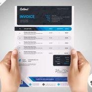 A4 Size Invoice Design Templates PSD