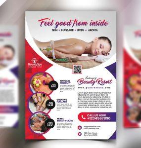 Beauty Salon and Spa Flyer PSD