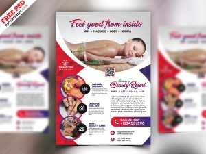 Beauty Salon and Spa Flyer PSD