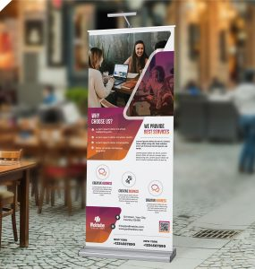 Business Advertisement Roll-up Banner PSD