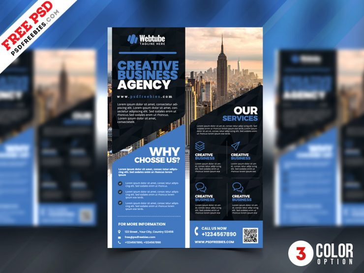 Business Promotion AD Flyer Design PSD