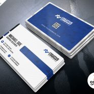 Clean Simple Business Card Design PSD