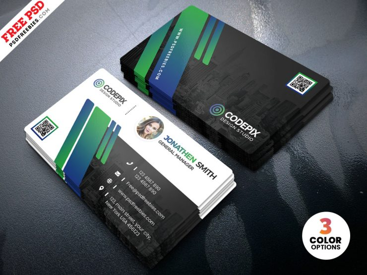 Corporate Business Card Design Templates PSD