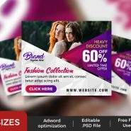 Fashion Store Ad Banners Set PSD