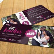 Gift Voucher Card Design PSD Template