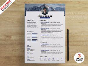 PSD Clean Resume Design Templates