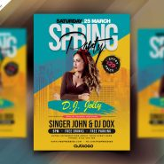Spring Party PSD Flyer Design PSD