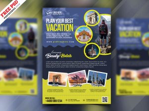 Travel Agency Advertisement Flyer PSD