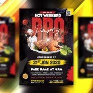 BBQ Party Flyer Design PSD