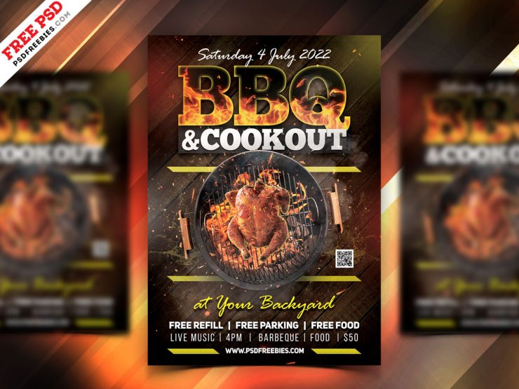 BBQ Party Flyer Template PSD