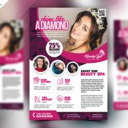 Beauty Salon Flyer Design PSD