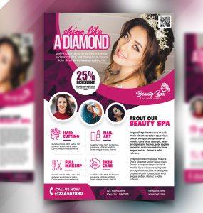 Beauty Salon Flyer Design PSD
