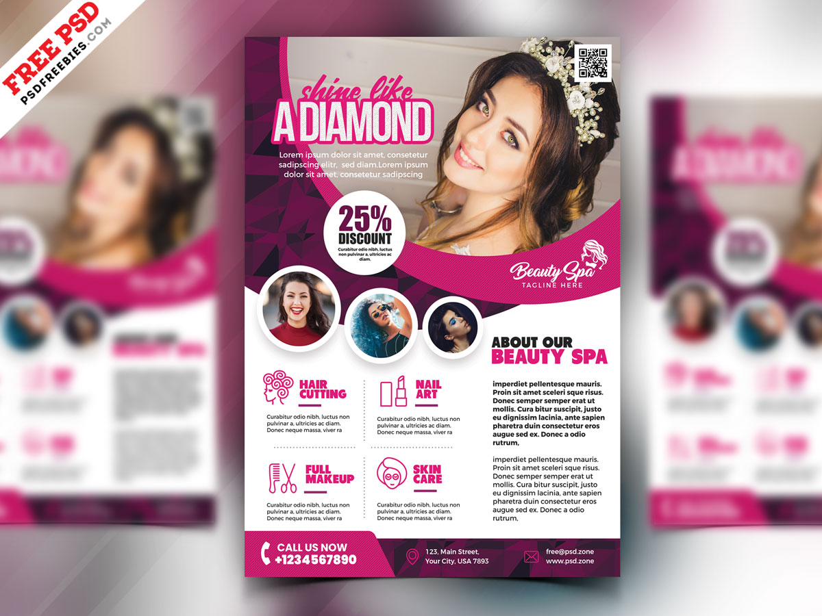 Beauty Salon Flyer Design Psd Psdfreebies Com