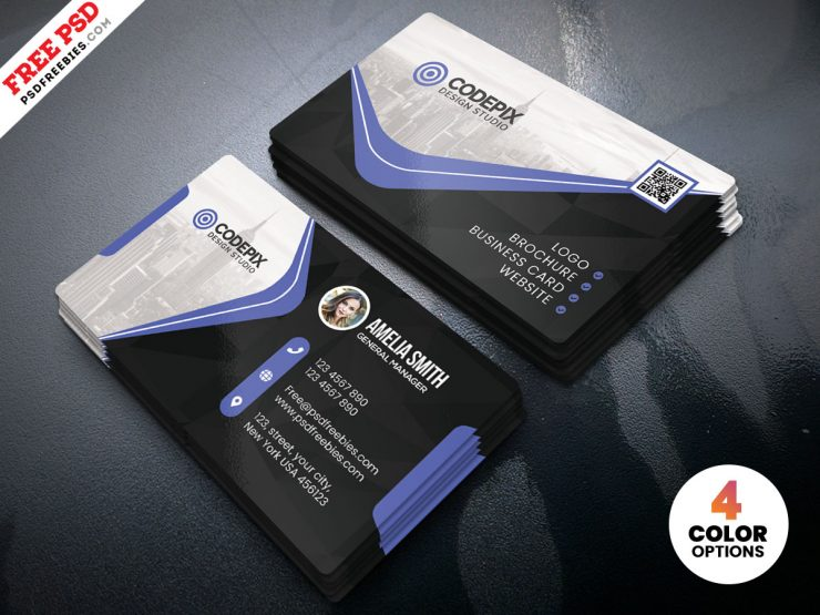 Business Card PSD Template PSD