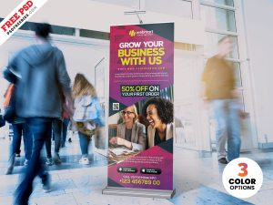 Business Promotion Roll Up Banner PSD