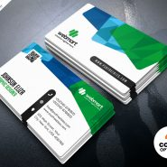 Colorful Business Card Design Templates PSD