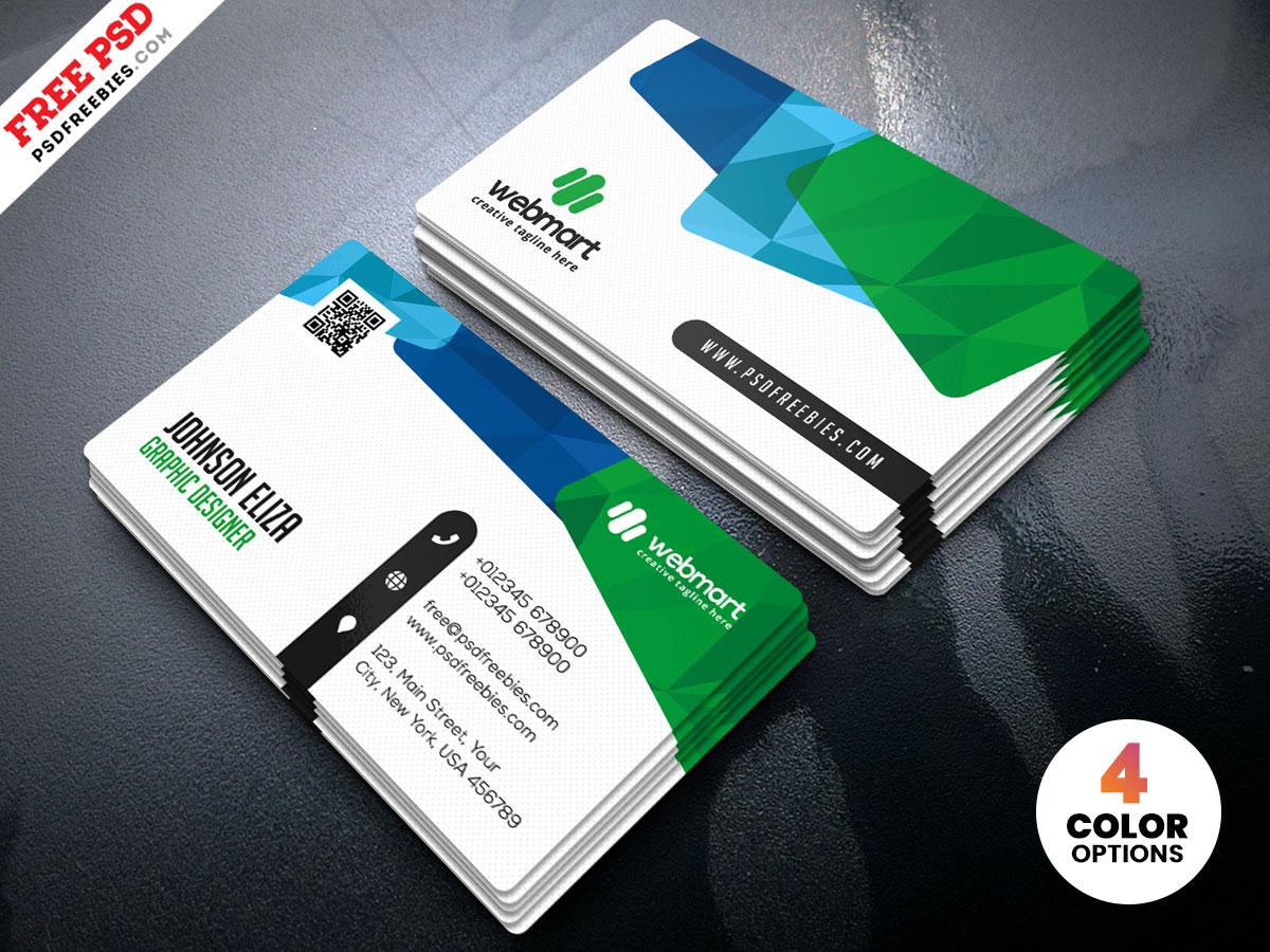 Colorful Business Card Design Templates Psd Psdfreebies Com
