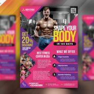 Elegant Fitness and Gym Flyer Design PSD