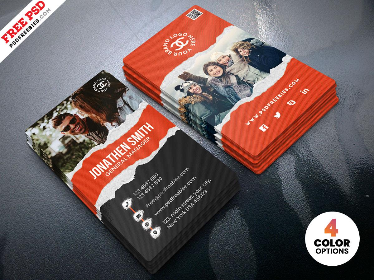 Fashion Store Business Card Psd Psdfreebies Com