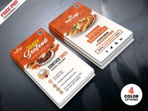 Fast Food Restaurant Business Card PSD