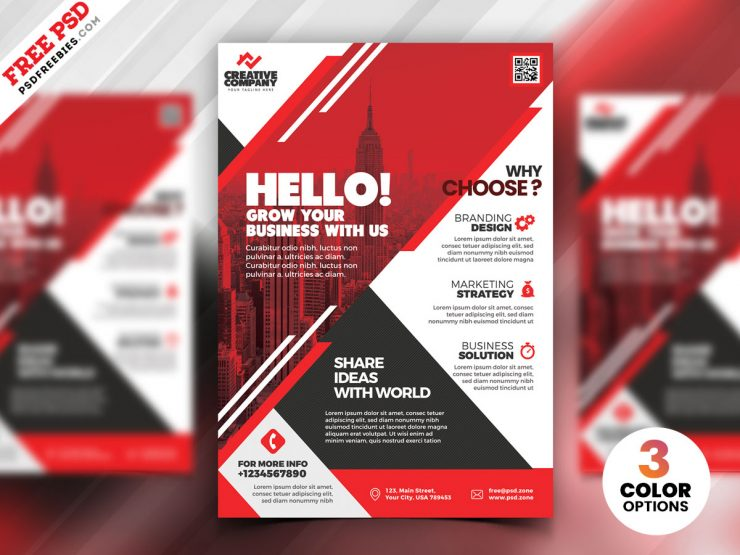 PSD Corporate Flyer Design Templates