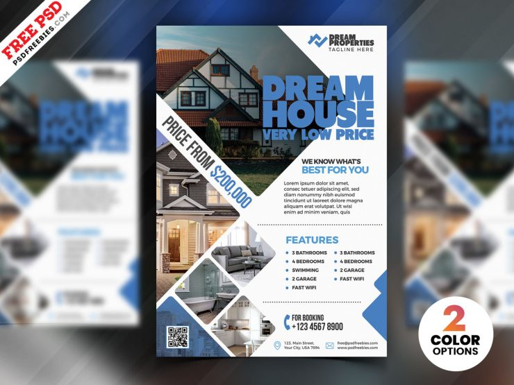 Real Estate Flyer Design PSD