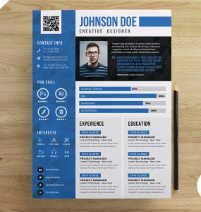 Resume CV Design Free PSD Templates