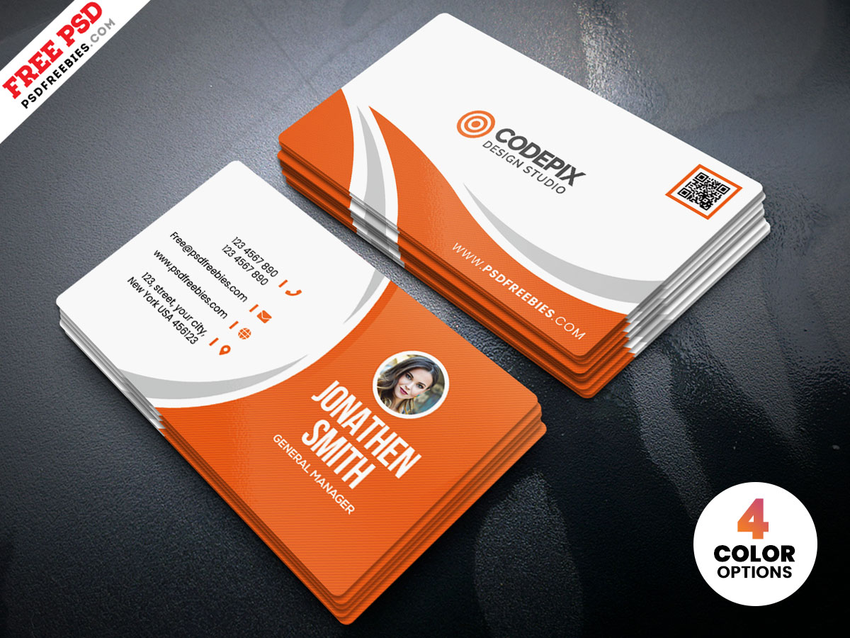 simple business card design free psd