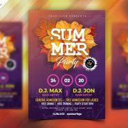 Summer Season Music Party Flyer PSD