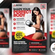 Body Fitness Gym Flyer PSD Template