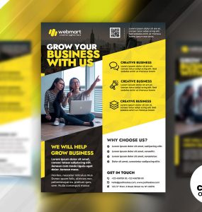 Business Advertising Flyer Design Templates PSD