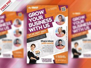 Business Seminars Workshops Flyer PSD