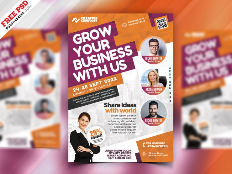 Business Seminars Workshops Flyer PSD