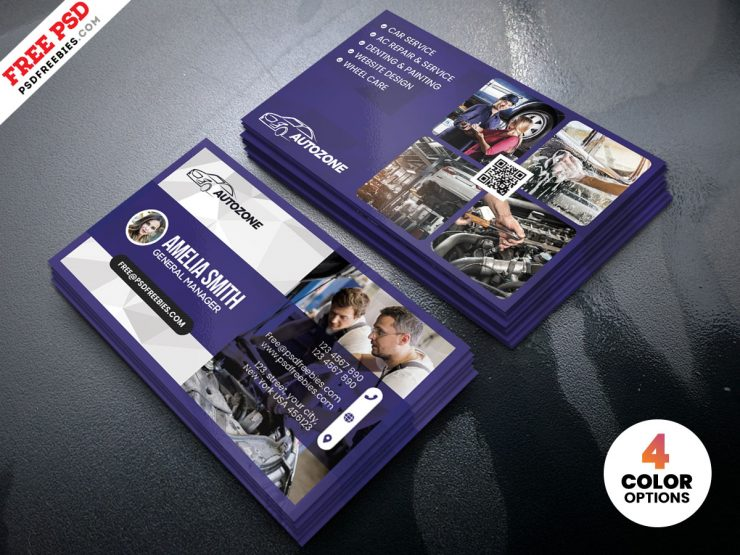 Car Repair Shop Business Card PSD