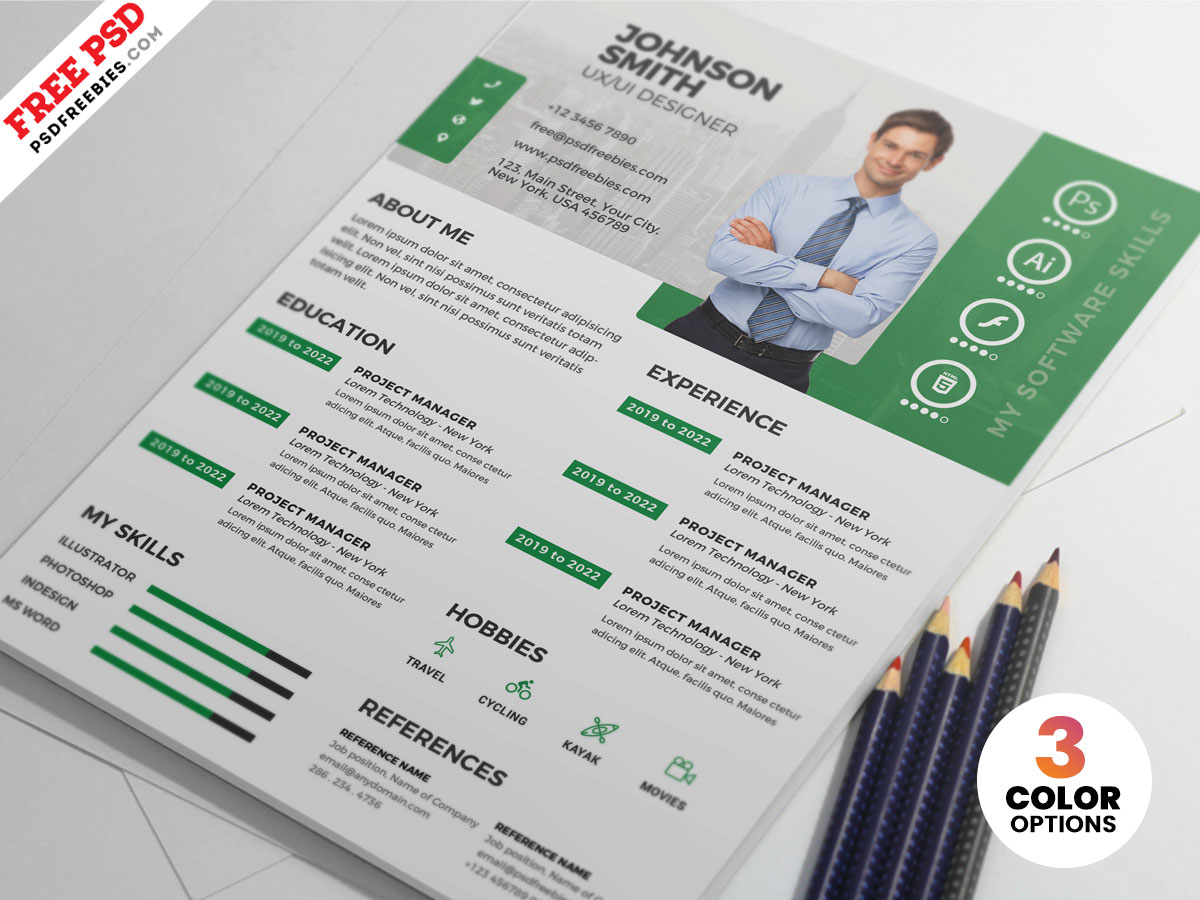 Designer Resume CV PSD Templates | PSDFreebies com