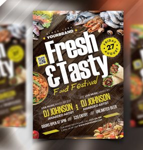 Food Festival Flyer PSD Template