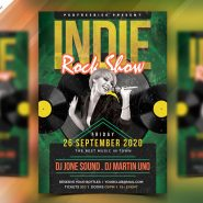 Indie Rock Show Flyer PSD