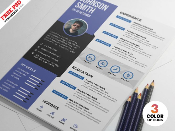 PSD Graphic Designer Resume Design