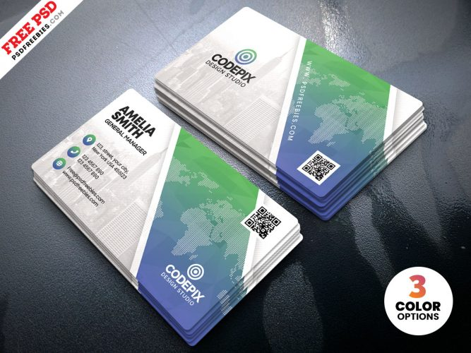 Print Ready Business Card Design PSD Template