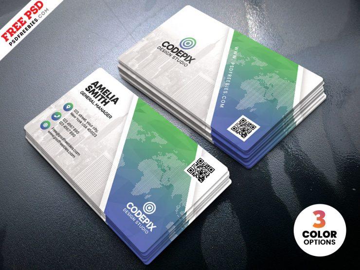 Print Ready Business Card Design PSD Template