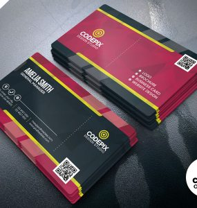 Print Ready Business Card PSD Template