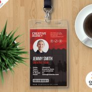 Print Ready Employee ID Card PSD Template
