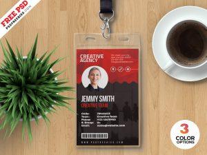 Print Ready Employee ID Card PSD Template