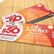 Print Ready Gift Voucher Design PSD