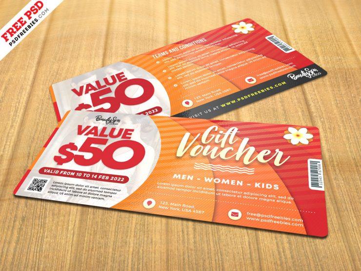 Print Ready Gift voucher Design PSD