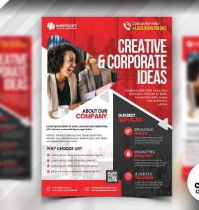 A4 Corporate Flyer PSD Template