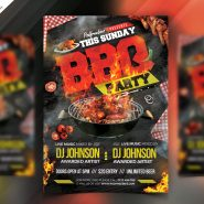 Backyard BBQ Party Flyer PSD